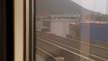 20191004 174606 G87次列车通过郑西(徐兰)高铁豫陕界