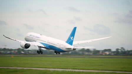 厦门航空B-787梦幻客机 史基浦国际机场起飞