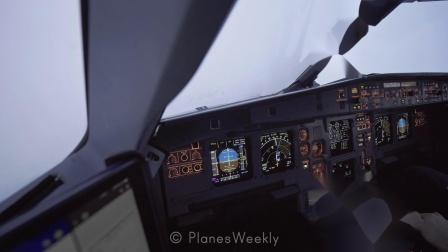 空客A321降落 驾驶舱全纪录