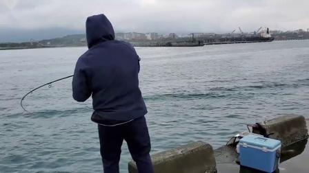 海钓中烟仔鱼,鱼竿唰唰唰疯狂出线,这出线声真迷人!