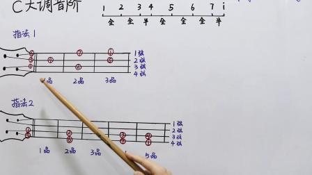 指间音乐尤克里里基础教程-C调音阶
