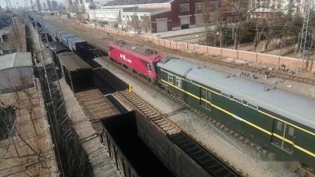 天津站车迷候车室火车视频集39三月的开始-天津火车,偶遇沈局辽段HXD2