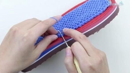 雅馨绣坊:鞋垫的上法双线上法