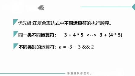 (C语言MOOC网孙海洋)第6讲(第4周)运算符的优先级和结合性.mp4