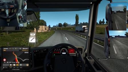 雷诺重卡-欧洲卡车模拟2:跨海送平板车丨罗技G29