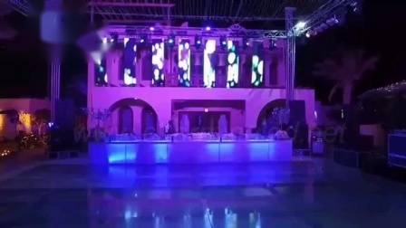 Charming LED dance floor and LED flexible curtain used for Egypt Events