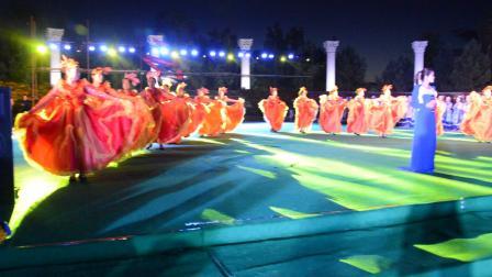 梦飞鱼健身舞队2016.8.25艺术节彩排伴舞-晚风吹过哨塔