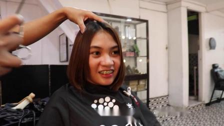 性感美女剪短发