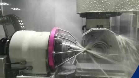 千岛机械QD580五轴数控磨床磨削20mm钻头演示