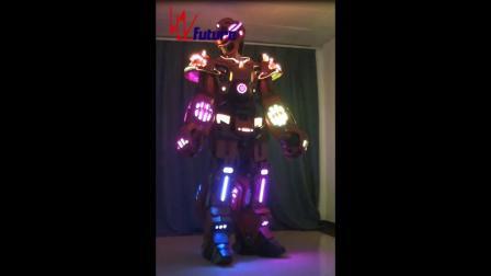 高端LED发光机器人服装用于大型娱乐演出舞蹈表演