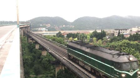 (广茂线火车视频)DF4B 7632通过肇庆西江大桥(51216)
