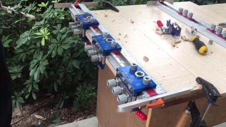 木工简易三排钻 三合一打孔夹具