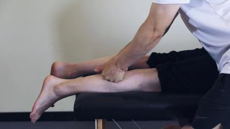 桃子老师演示腓肠肌筋膜手法1