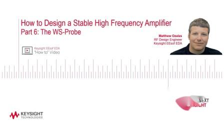 第六部分:如何设计稳定的高频放大器