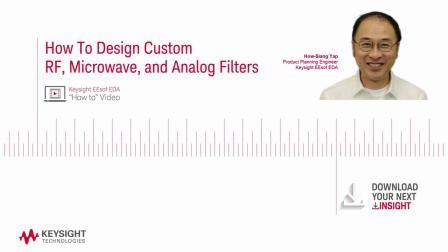 如何设计定制化的射频,微波以及模拟滤波器