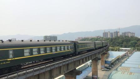 (广茂线火车视频)DF4B 2310牵引K587通过肇庆西江大桥(深圳西-成都)