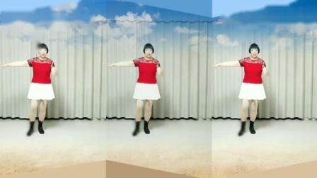 莲芳姐广场舞《为爱流下伤心泪》原创零基础优美舞蹈32步