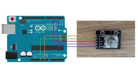 Arduino旋转编码器原理第14节