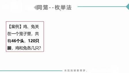 (MOOC网 孙海洋 C语言)第7讲(第7周)编程实践(三)--鸡兔同笼.mp4