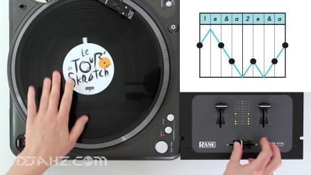 【搓碟基础教程】2 Click Chirp Flare Combo - Scratch Tutorial