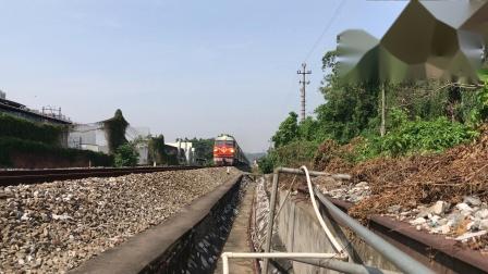 (广茂线火车视频)DF4B 2310牵引K1206通过肇庆学院道口(昆明-深圳东)