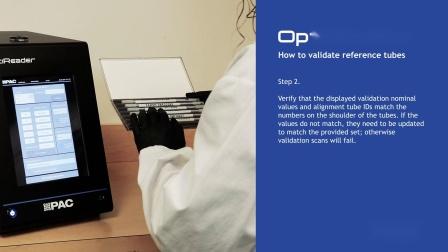 OptiReader Validate Tubes