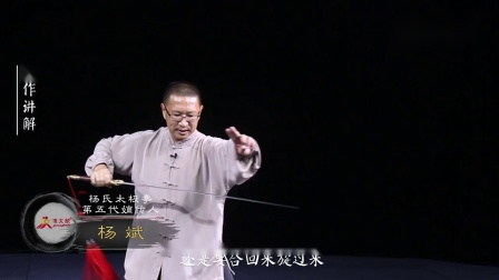 漾太极-杨氏太极剑第18式-龙行势(二)