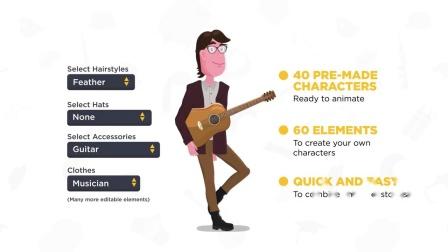 fcpx插件 卡通故事人物场景角色自动口型文字标题mg动画元素包v3 (2)