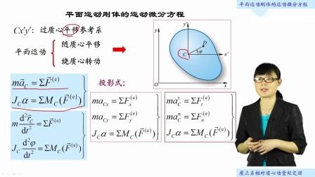 [23.3.1]--23.3平面运动刚体的运动微分方程(视频)
