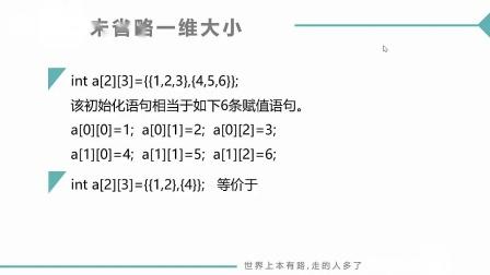 (MOOC网 孙海洋 C语言)第2讲(第9周)二维数组的初始化.mp4