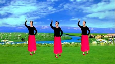 荆州雨荷广场舞《草原的月亮》编舞:応子
