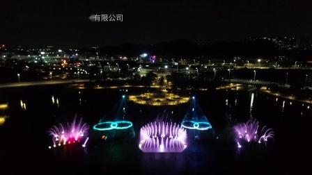 江门蓬江区园山湖音乐喷泉水秀-深圳东方华一( Victory).mp4