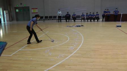 绿亚风城物管部2020年第一季度地面尘推实操技能比赛实况