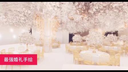 纯洁华丽的婚礼设计