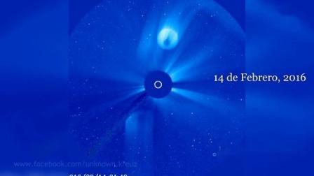太阳附近检测到很大不明飞行物 2016年4月22日UFO目击事件_标清