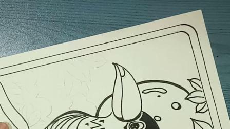 线描《大嘴鸟》