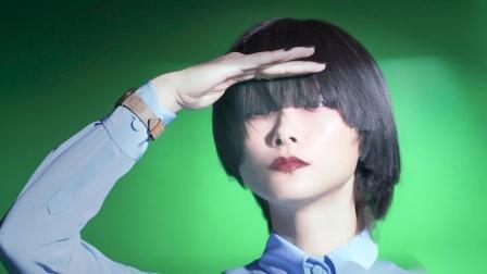 时尚芭莎6月刊李宇春齐刘海长发