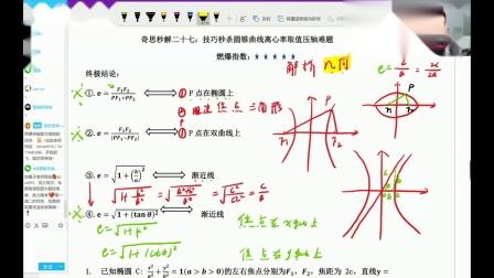 高中数学——圆锥曲线离心率取值压轴难题