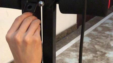 TY651SL双轨弯管 美腰健腹机拆卸折叠方法