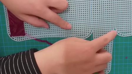 雪尼尔毛线编织包小号通用教程