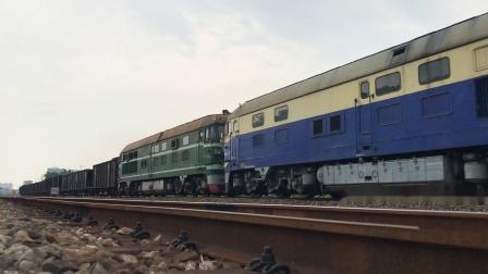 (广茂线火车视频)DF4B 7644回送广清城际施工车(DF4B 7737 9005)前往四川双江站 41171