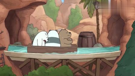 咱们裸熊:大大胖达和白熊,终于拍到受欢迎的照片,但有点生病了