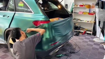 卡莱克汽车改色膜奔驰后备箱贴膜视频展示