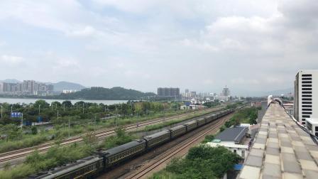 (广茂线火车视频)DF4B 3456牵引K1206肇庆一道发车(昆明-深圳东)