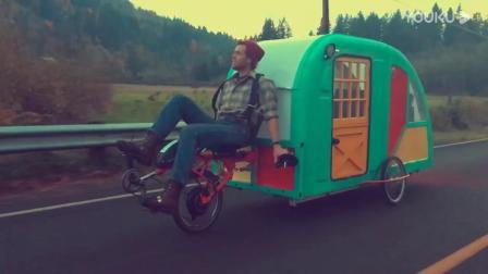 三轮车房车:脚踏房车去旅行,你看这款行不行?_超清