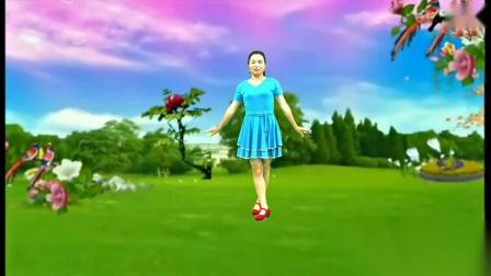 兰兰爱创广场舞《心在路上》原创附教学_中三步_网红歌新舞友布