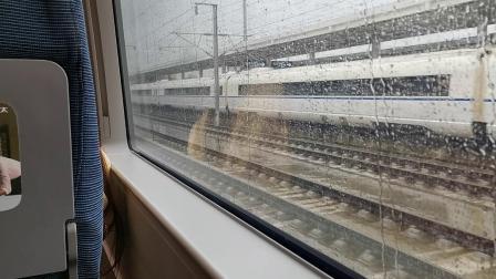20191007 100909 D6858次列车出洋县西站遇D6855次列车进站
