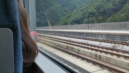 20191007 104056 D6858次列车出西成高铁新场街站