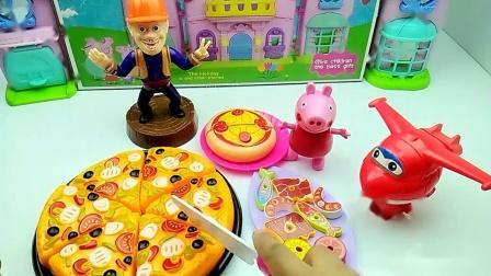 聚餐:佩奇带的披萨,乐迪带的烤串,光头强带的啥
