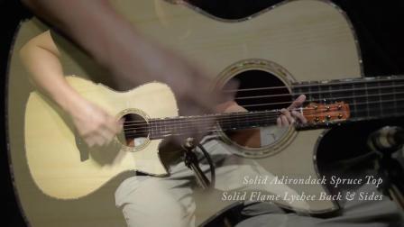 Maestro美诗特吉他15周年特别款阿迪面荔枝木背侧 VI-LY 第二段